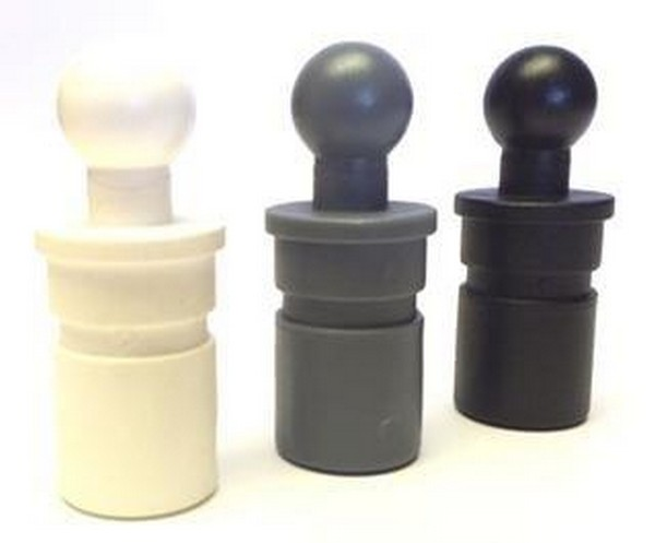bevtent024ab pole ball - 22mm Pole Ball for socket - Black