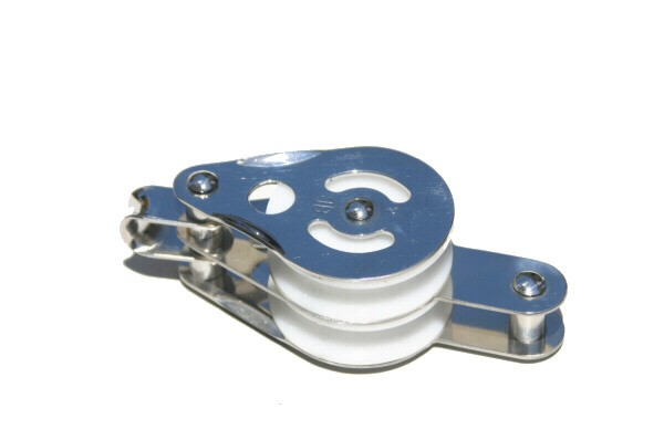 bg101e2 block becket - DOUBLE PULLEY 50mm WITH BOTTOM BECKET