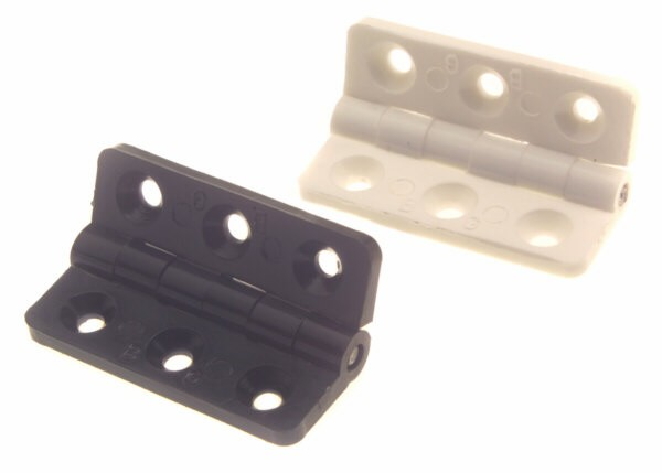 bg116a plastic hinge - SMALL HINGE - 40mm LONG x 18mm WIDE