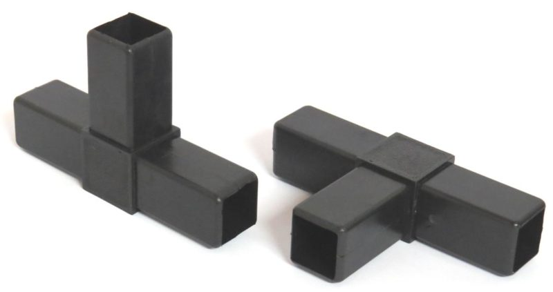 bevtent028a 800x423 - 25mm Sq Tube connector 3 leg T flat