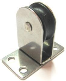 awpar028 single upright pulley - AWPAR28 : SINGLE UPRIGHT PULLEY WITH BASE PLATE