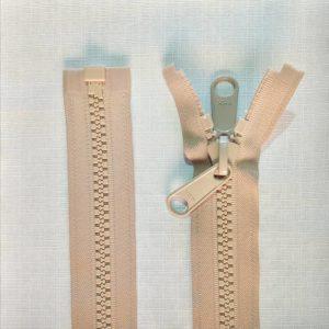 zip open end chunky type 10 ykk beige 300x300 - 13682-573 : Zip Type 10 Chunky O/E Dbl Tab Painted - BEIGE