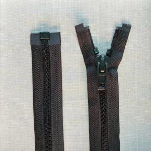 zip open end chunky type 10 ykk black 300x300 - 2740-580 : Zip Type10 Chunky O/E Sgl Tab Plastic - BLACK