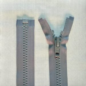 zip open end chunky type 10 ykk grey 300x300 - 2740-578 : Zip Type10 Chunky O/E Sgl Tab Plastic - GREY
