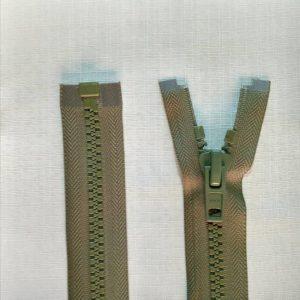 zip open end chunky type 10 ykk olive 300x300 - 2740-566 : Zip Type10 Chunky O/E Sgl Tab Plastic - OLIVE