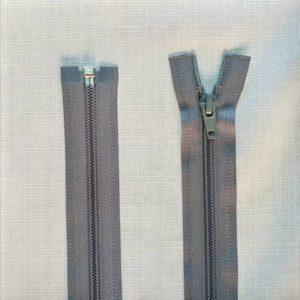 zip open end coil type 5 ykk grey 300x300 - 2549-578-100 : Zip Type 5 O/E 100cm Grey S/Tab Nickle