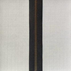 zip chain metal type 5 ykk antique brass on black 300x300 - 582465-BLK : Zip chain YKK Type 5 Metal Antique Brass Black
