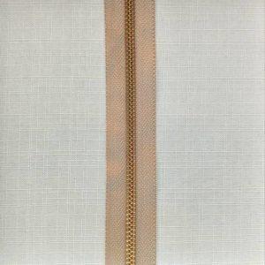zip chain metal type 5 ykk brass on beige 300x300 - 582464 : Zip chain YKK Type 5 Metal Brass Beige 573
